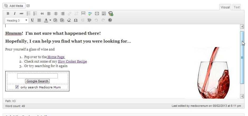 Thesis 404 page custom