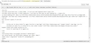 Writing HTML Code Using WordPress