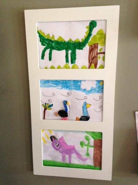 displaying kids artwork - Kids Art Frame