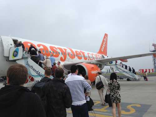 Easyjet Flight to Newquay from Southend