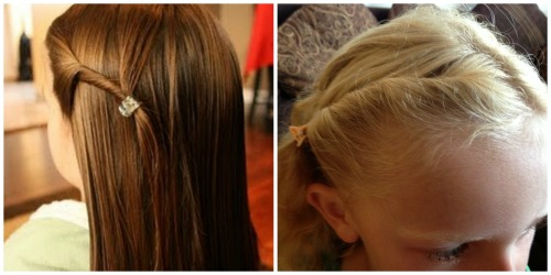 How to tie up little girl's hair