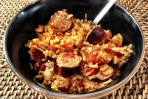 Oven Baked Sausage Risotto