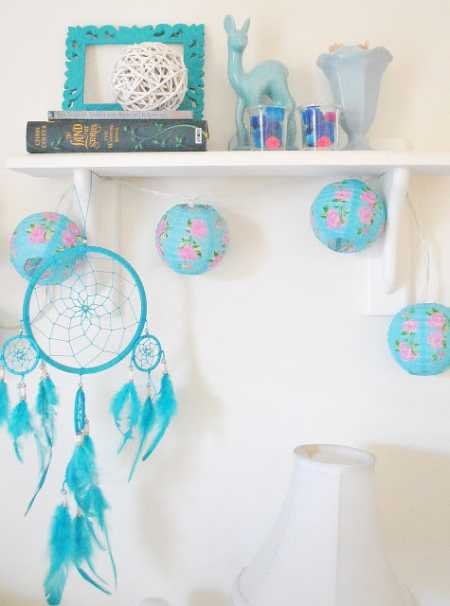 Chinese Lanter Fairy Lights - Teal