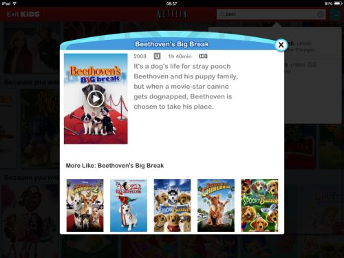 Netflix UK Movies for Kids