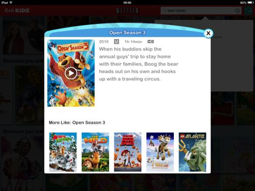 Open Season 3 on Netflix