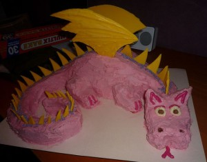How to Make a Dragon Cake